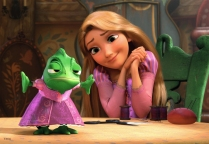 I love how much Rapunzel adores Pascal!